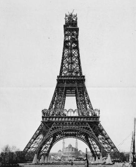 26 de dezembro de 1888 : montagem da parte superior
